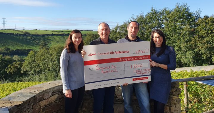 Camel Valley Air Ambulance cheque